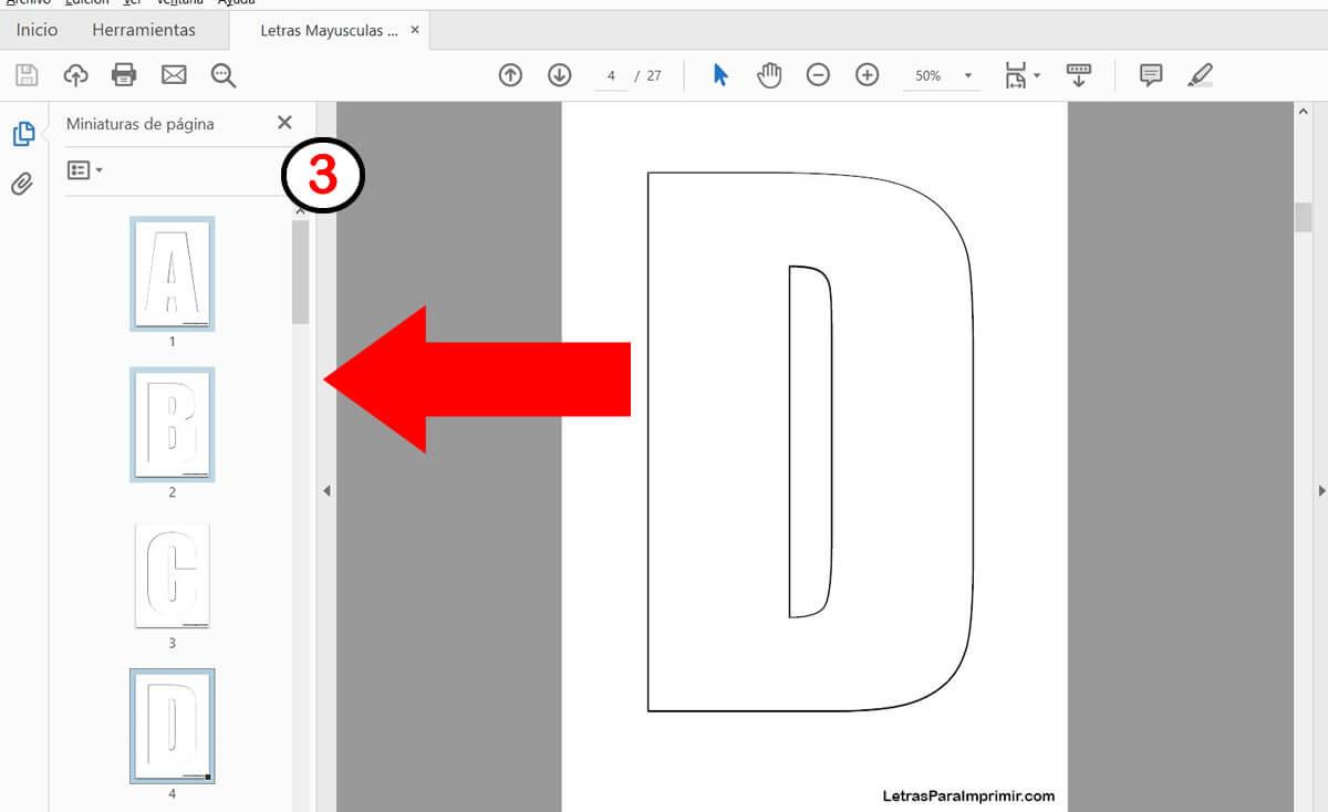 Imprimir solo algunas páginas en pdf